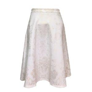🆕 CATHERINE malandrino metallic foil skater skirt